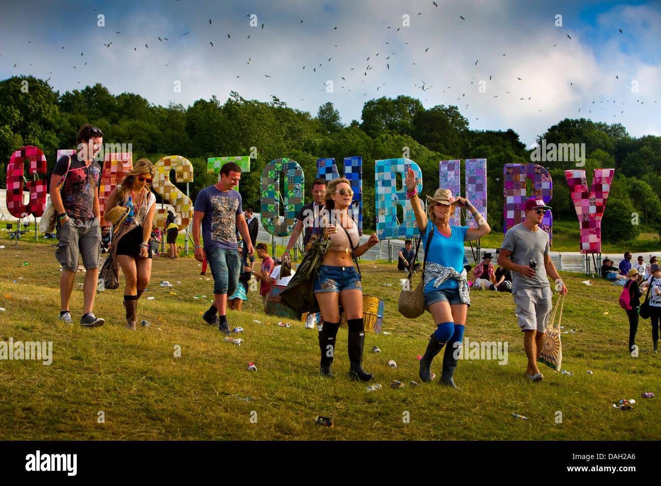 El Festival de Glastonbury, Somerset, Inglaterra, Reino Unido. Imagen De Stock