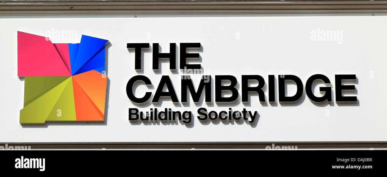La construcción de la sociedad de Cambridge, firmar, logo Imagen De Stock