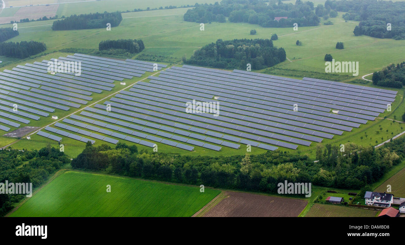 Sistema Fotovoltaico en gran escala, Alemania, Baviera, Pocking Imagen De Stock