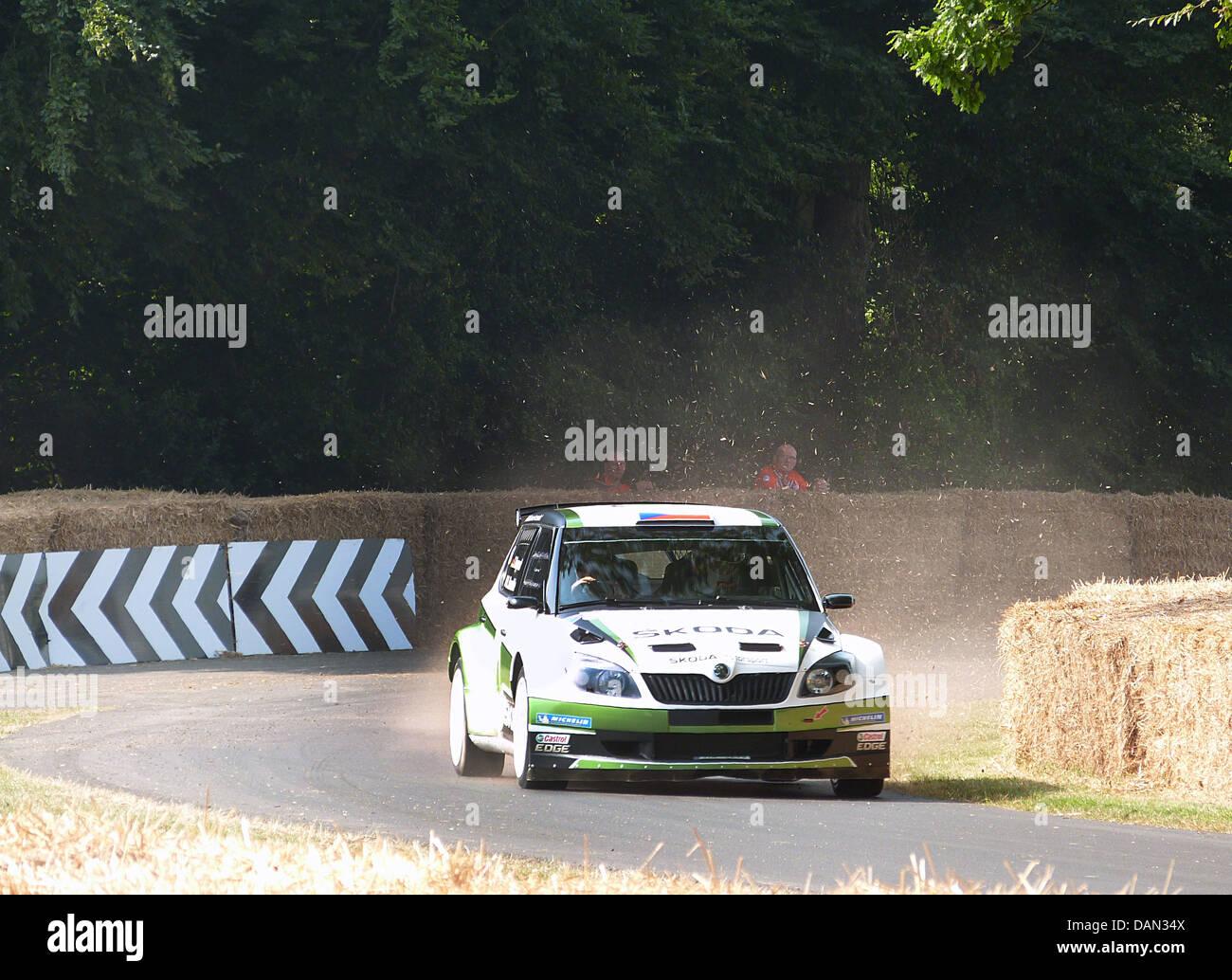 Rally de coches Skoda. Festival de Velocidad de Goodwood 2013 Imagen De Stock