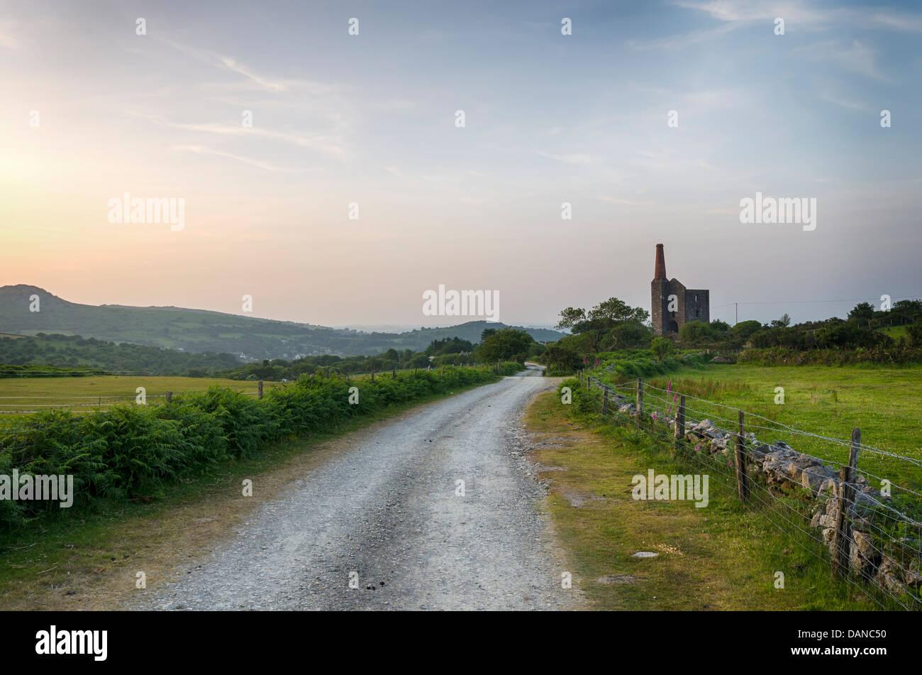 La mina de estaño de Cornualles Imagen De Stock