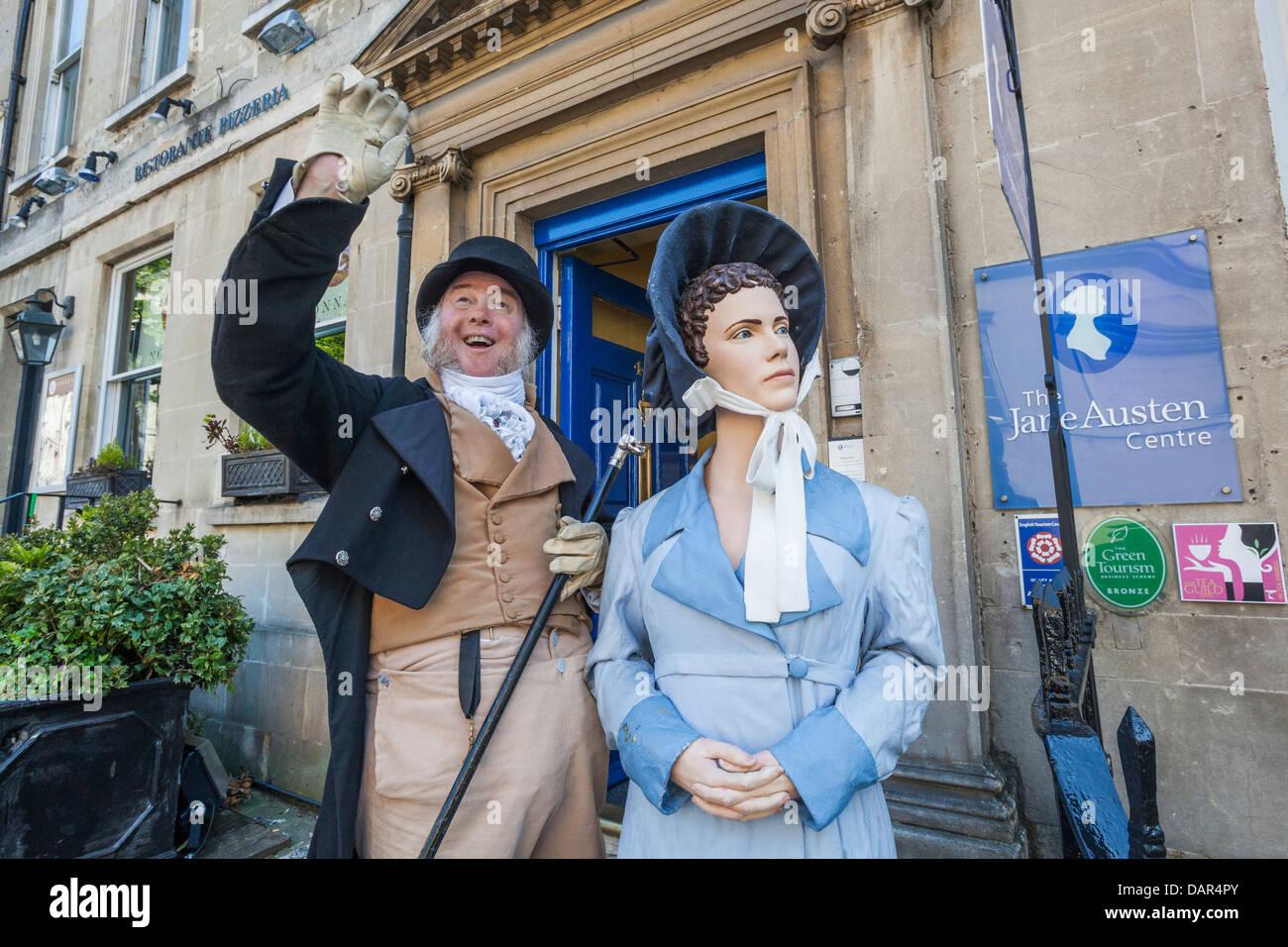 Inglaterra, Somerset, baño, entrada al centro de Jane Austen, Museo anfitrion Imagen De Stock