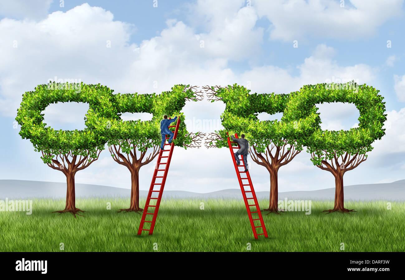 Una asociación comercial creciente y la reparación de una red ...