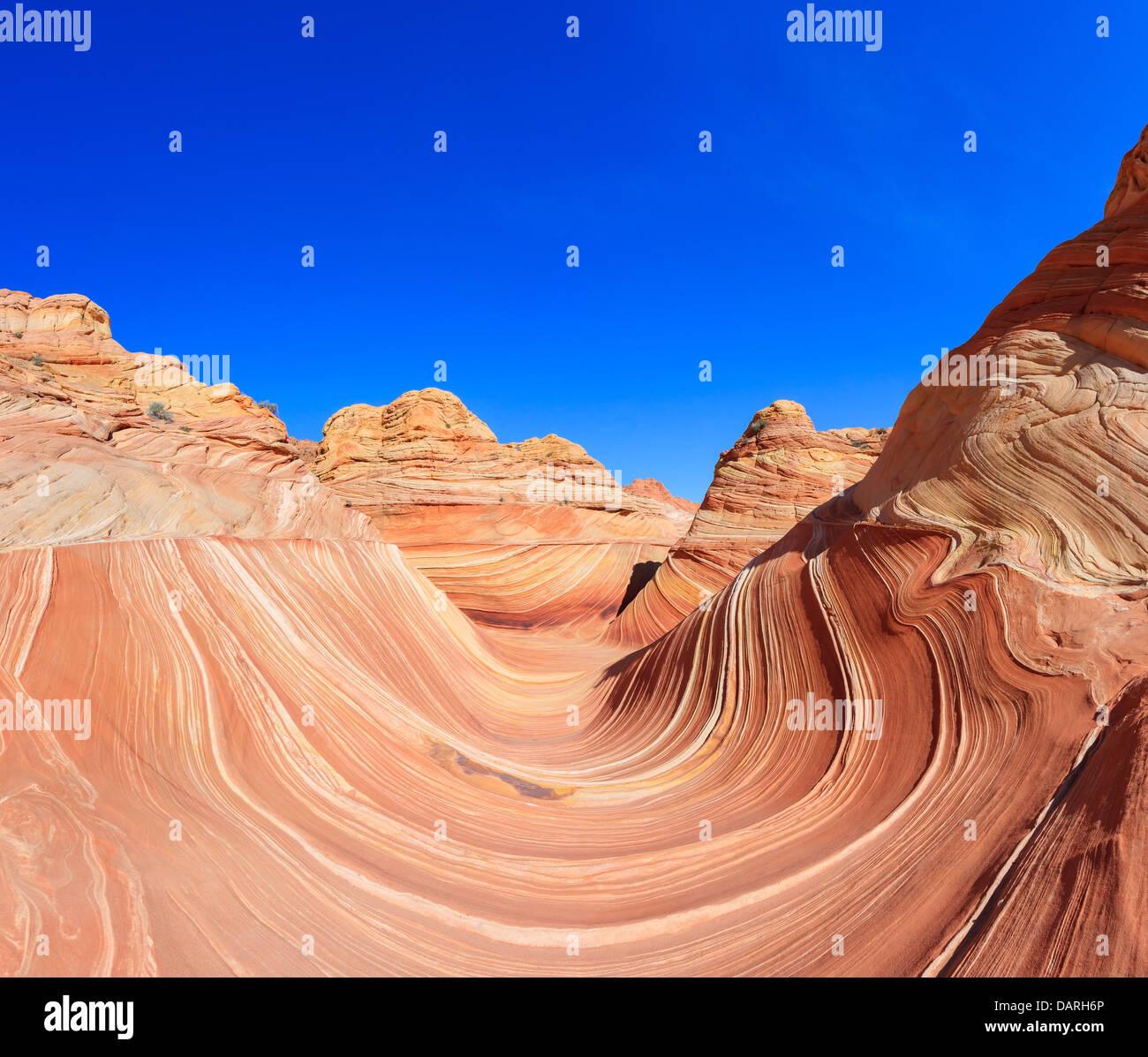 Formaciones rocosas en el norte Coyote Buttes, parte del Monumento Nacional Vermilion Cliffs. Esta área también Imagen De Stock