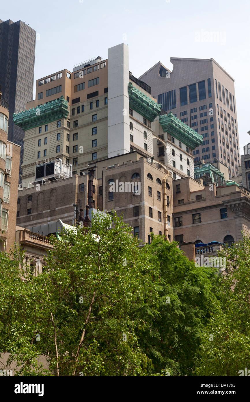 La arquitectura en el Midtown de Manhattan, Ciudad de Nueva York Imagen De Stock