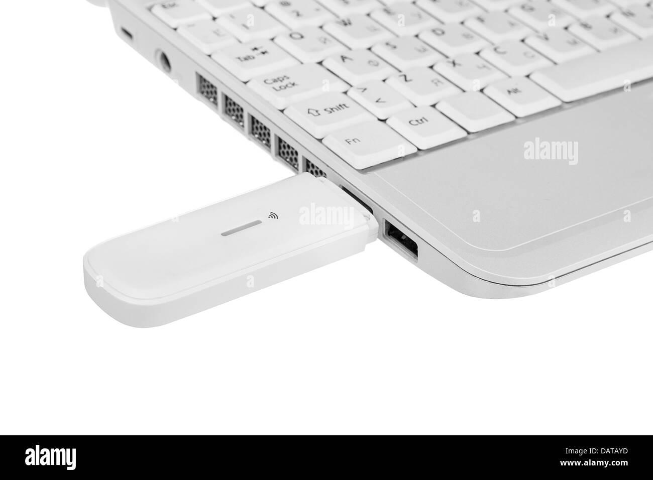 Ordenadores portátiles con módem wi-fi Imagen De Stock