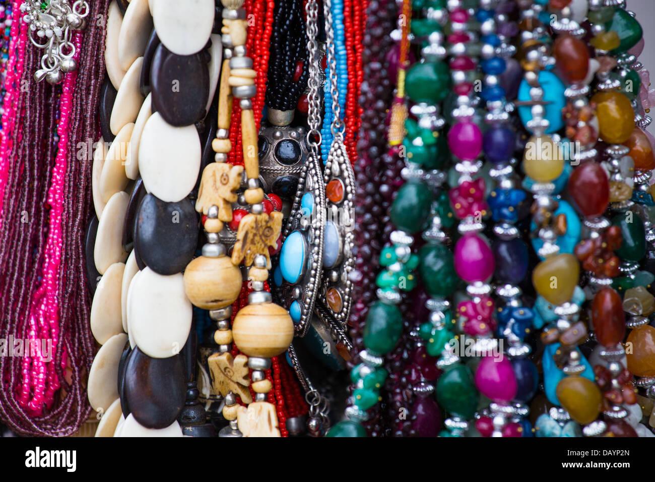 Recuerdo joyería en Fatehpur Sikri, India Imagen De Stock