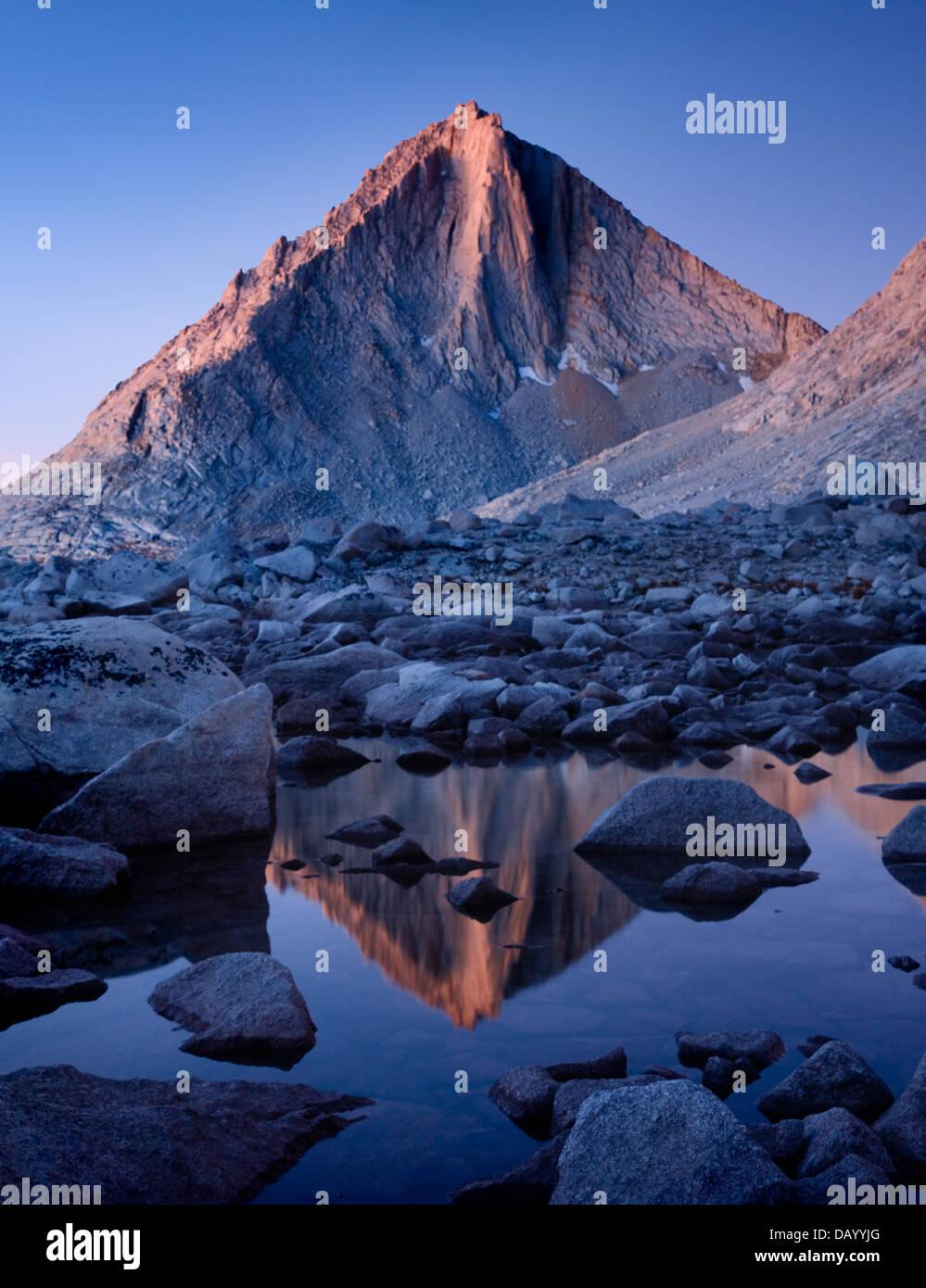 El Diamante - la parte oriental de Sierra Nevada Foto de stock