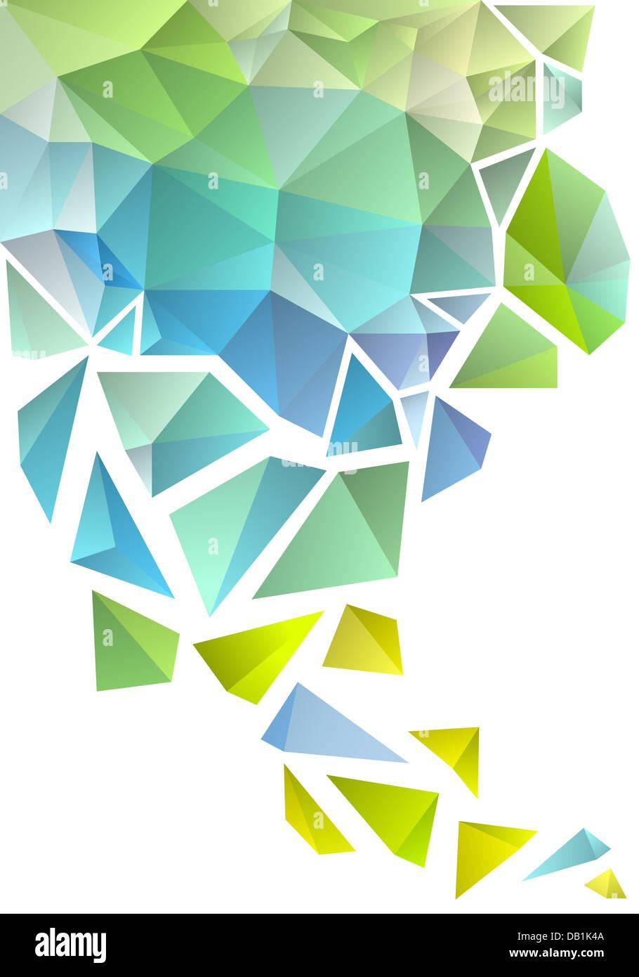 Polígono geométrica abstracta, vector de fondo Imagen De Stock
