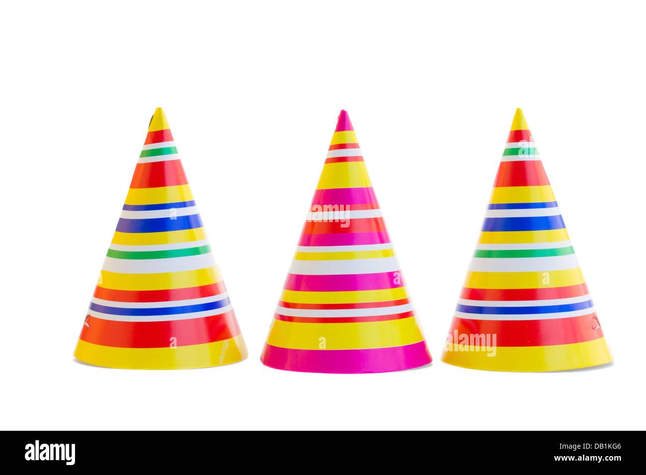 76fede92058 Tres sombreros para fiesta de cumpleaños Foto   Imagen De Stock ...