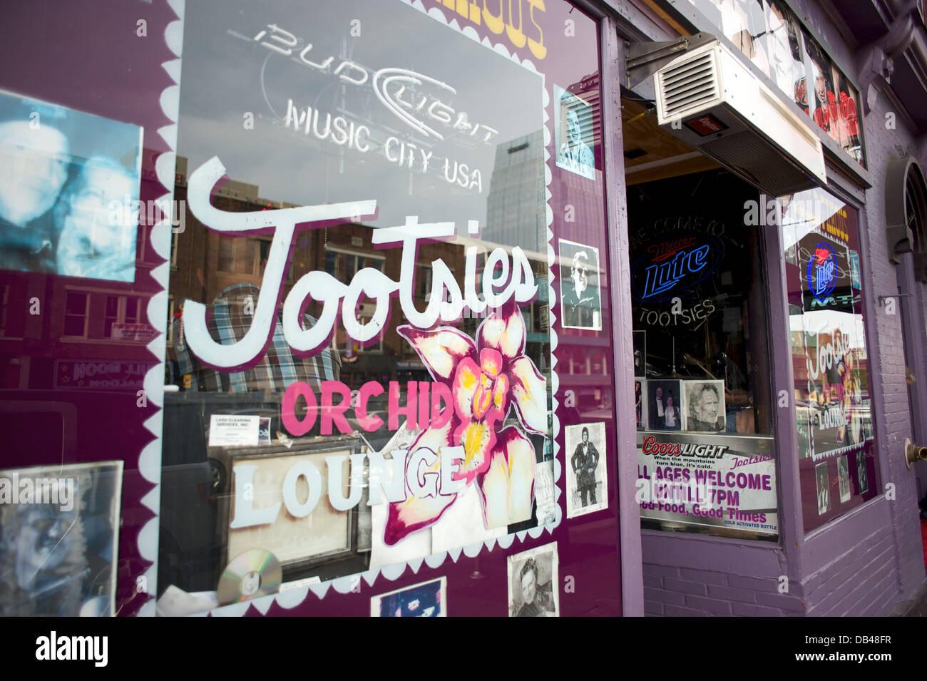 Tootsies Orchid Lounge, Nashville, Tennessee Imagen De Stock