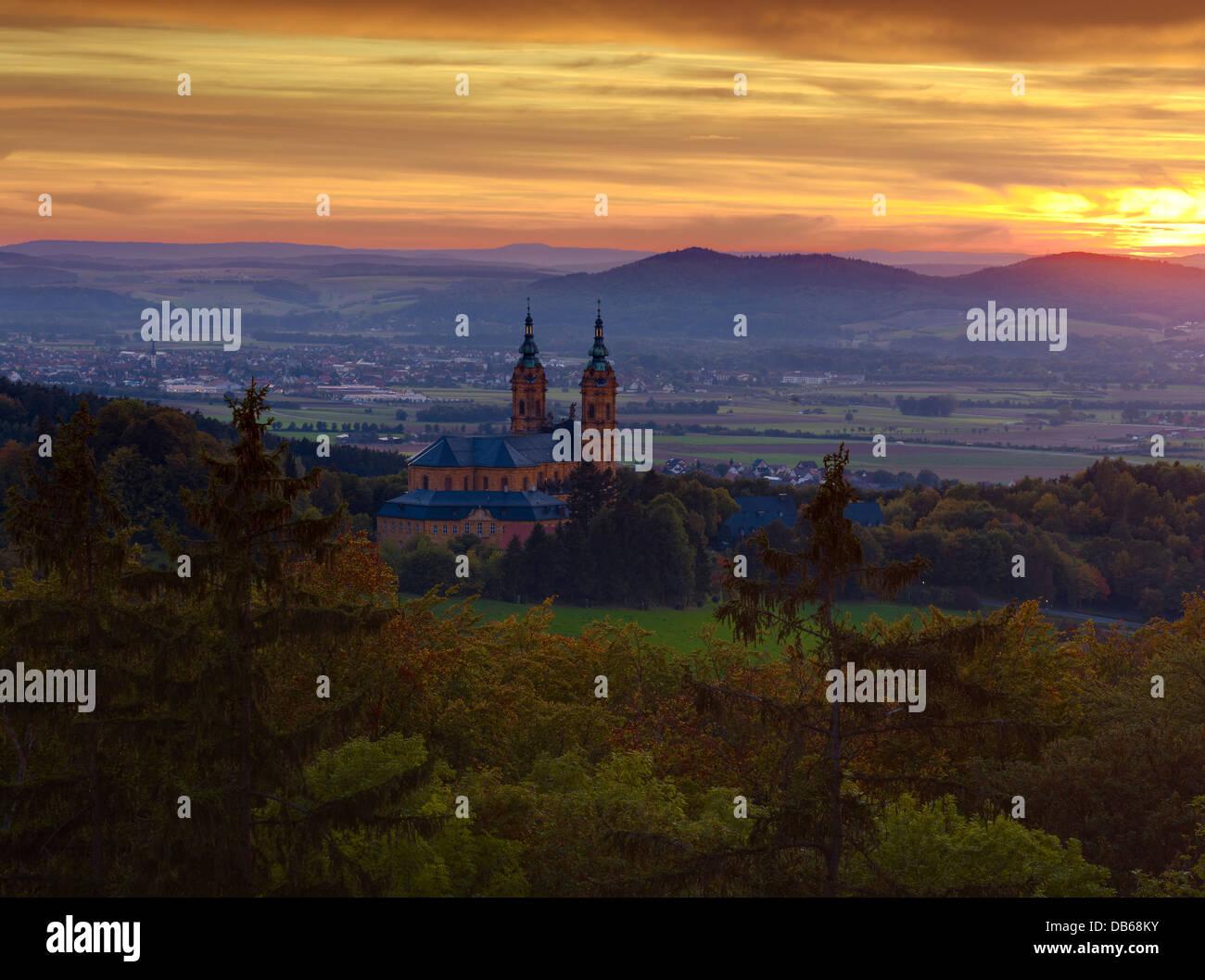 La iglesia de peregrinación de los catorce Ayudantes Santo, Bad Staffelstein Alta Franconia, Baviera, Alemania Imagen De Stock