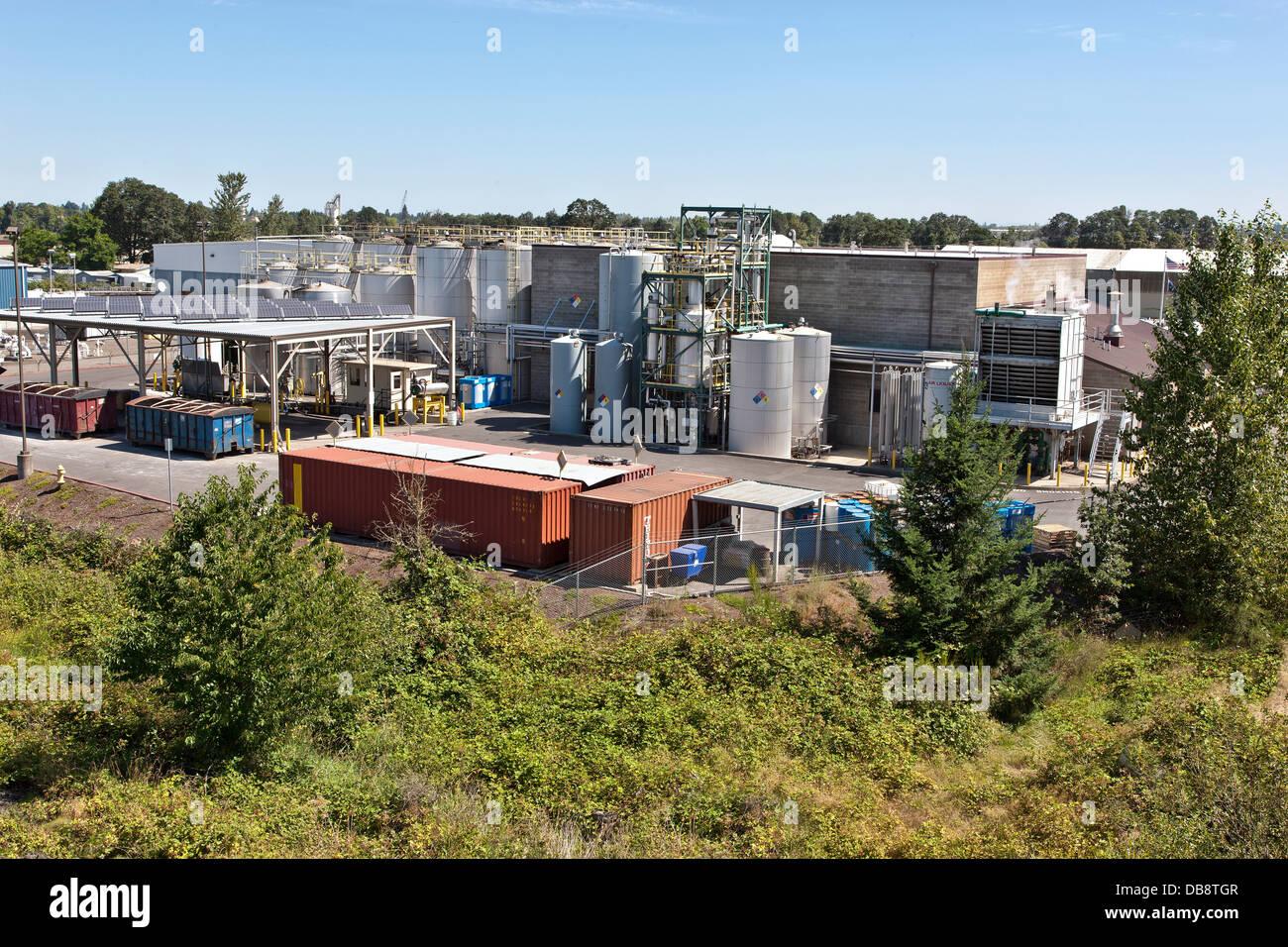 Instalaciones para la producción de biocombustibles. Imagen De Stock