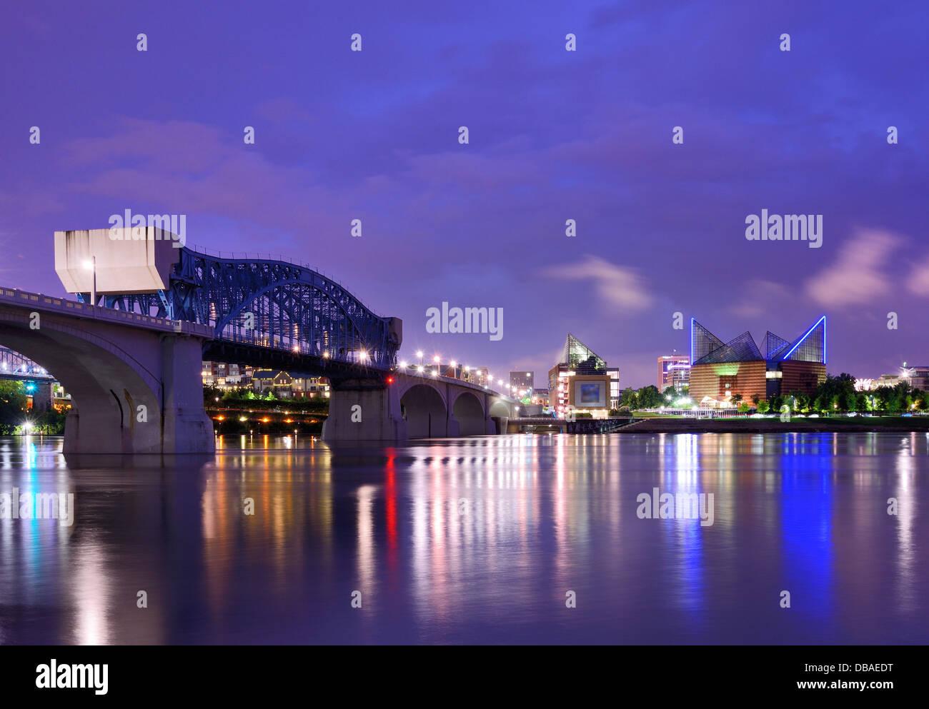 Centro de Chattanooga, Tennessee, Estados Unidos. Imagen De Stock