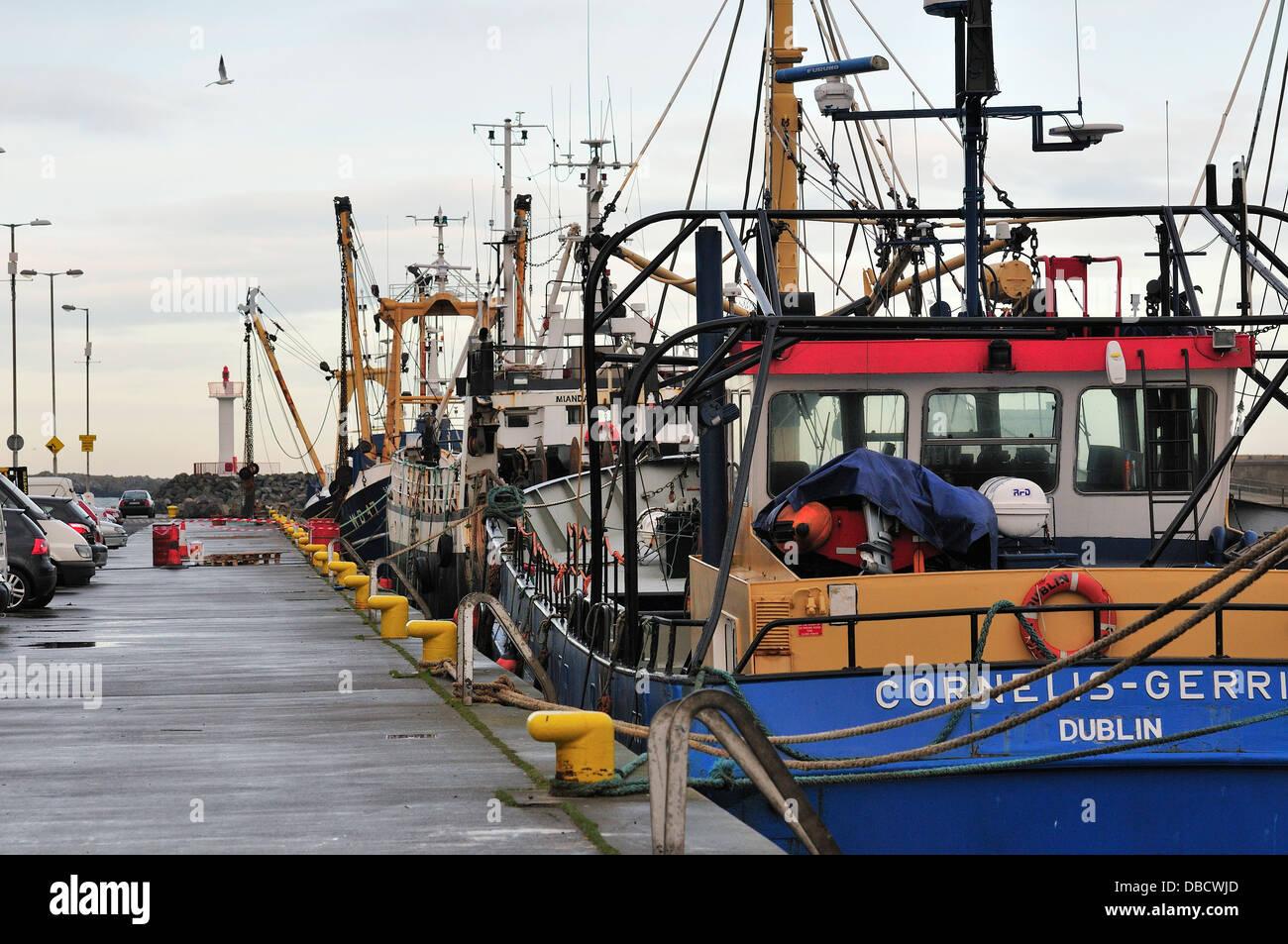 Howth Harbor, la Bahía de Dublín, Irlanda, Europa Foto de stock