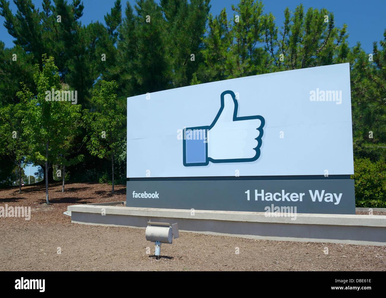 La sede corporativa de Facebook, Menlo Park Imagen De Stock