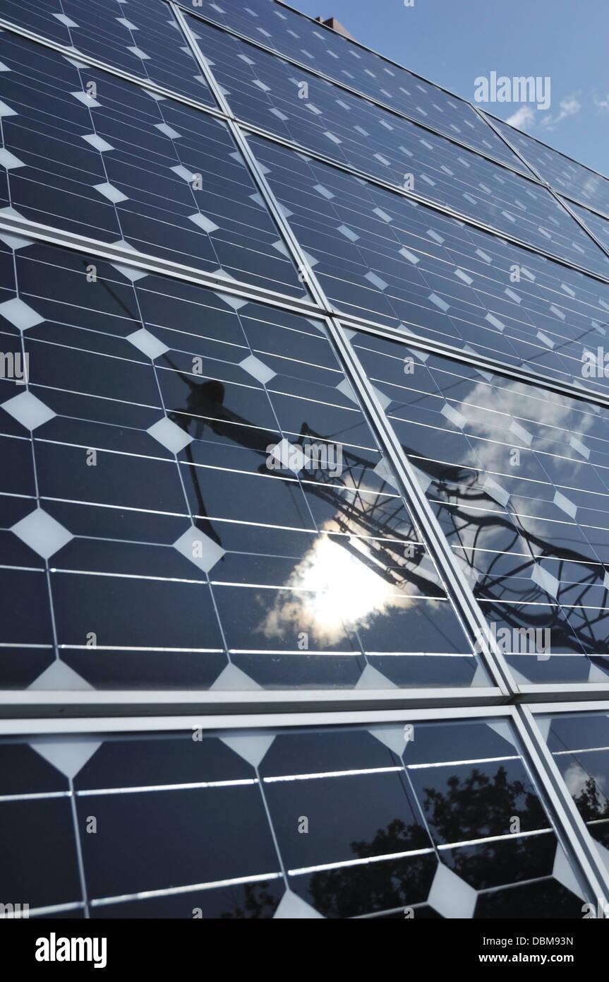 Los paneles solares de cerca Imagen De Stock