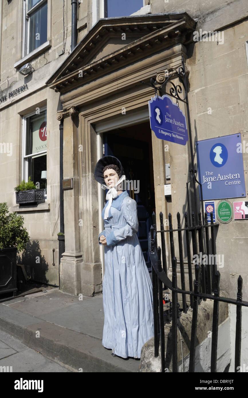 El centro de Jane Austen en Bath Imagen De Stock