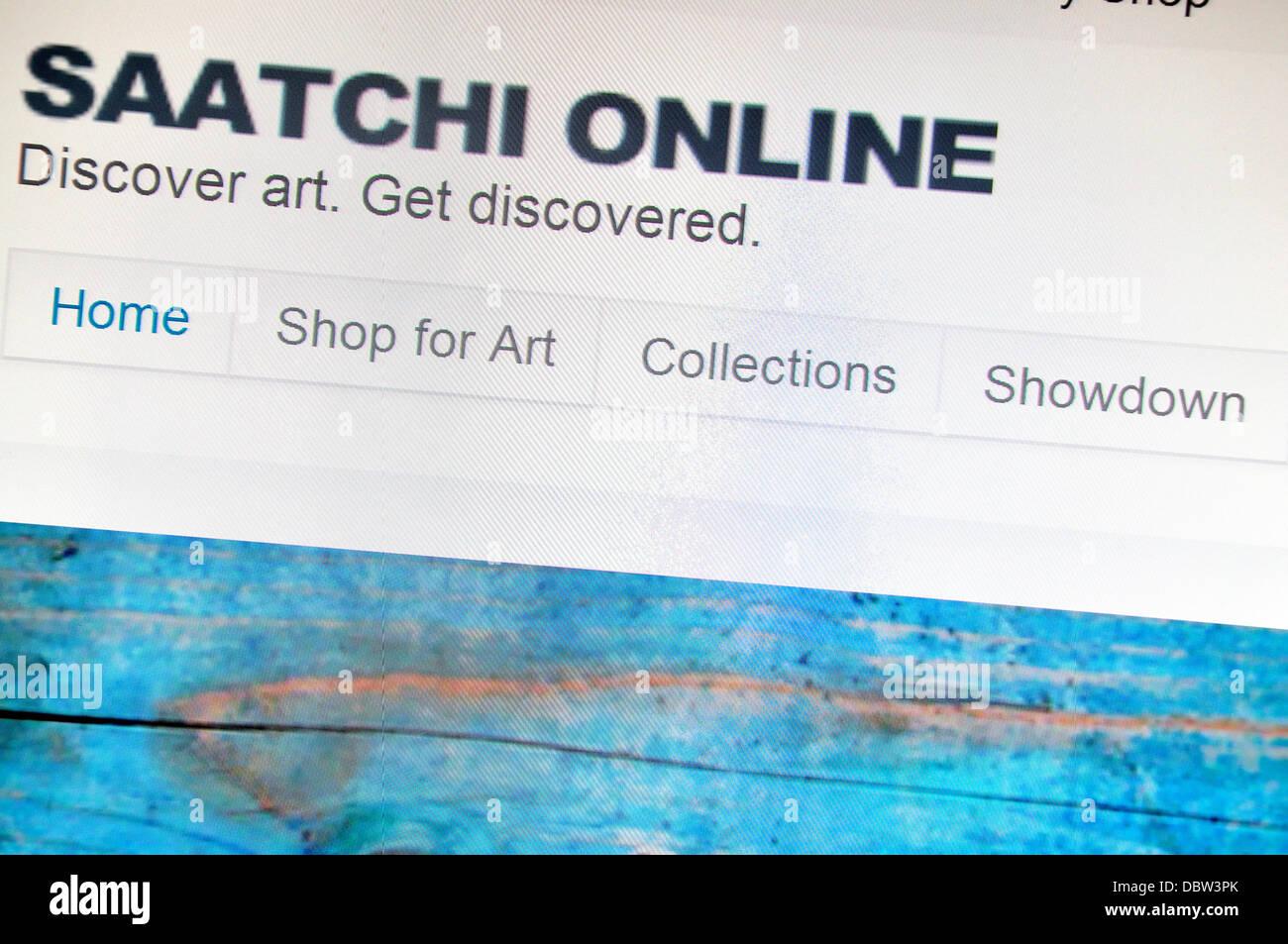Captura de pantalla de ordenador - Internet. Saatchi Online página frontal Imagen De Stock