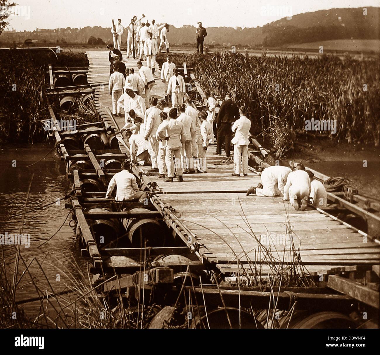 1er Regimiento Sussex Royal Engineers durante WW1 Foto de stock