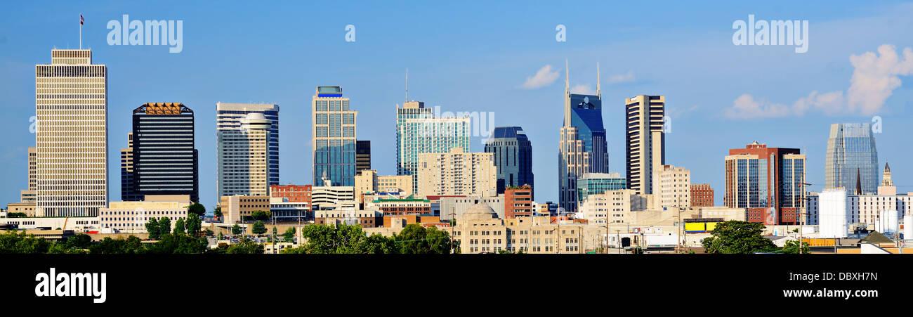 Perfil del centro de la ciudad de Nashville, Tennessee, EE.UU. Imagen De Stock