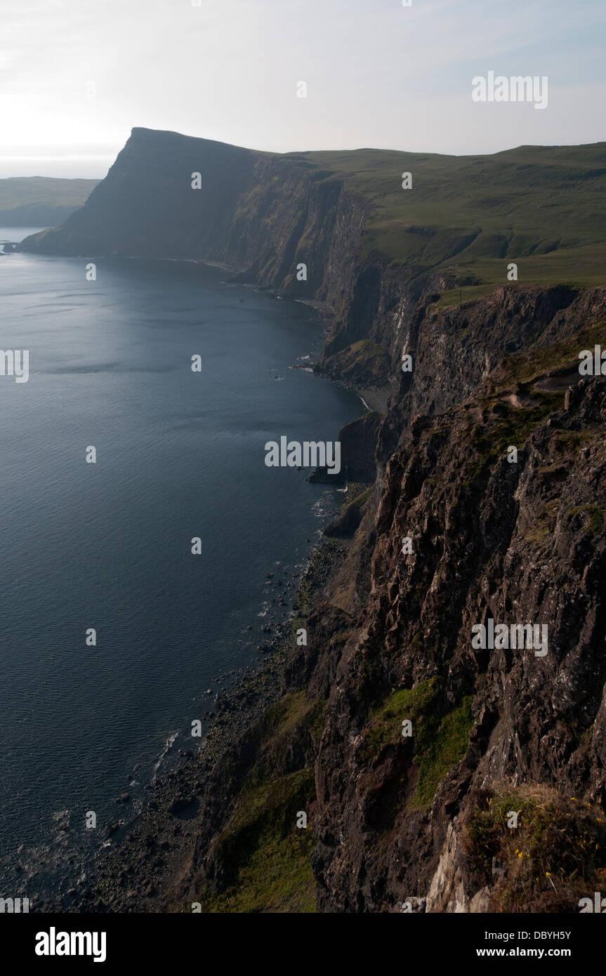 Cabeza de Waterstein Ramasaig acantilado. Costa Duirinish, Isla de Skye, Escocia, Reino Unido Foto de stock