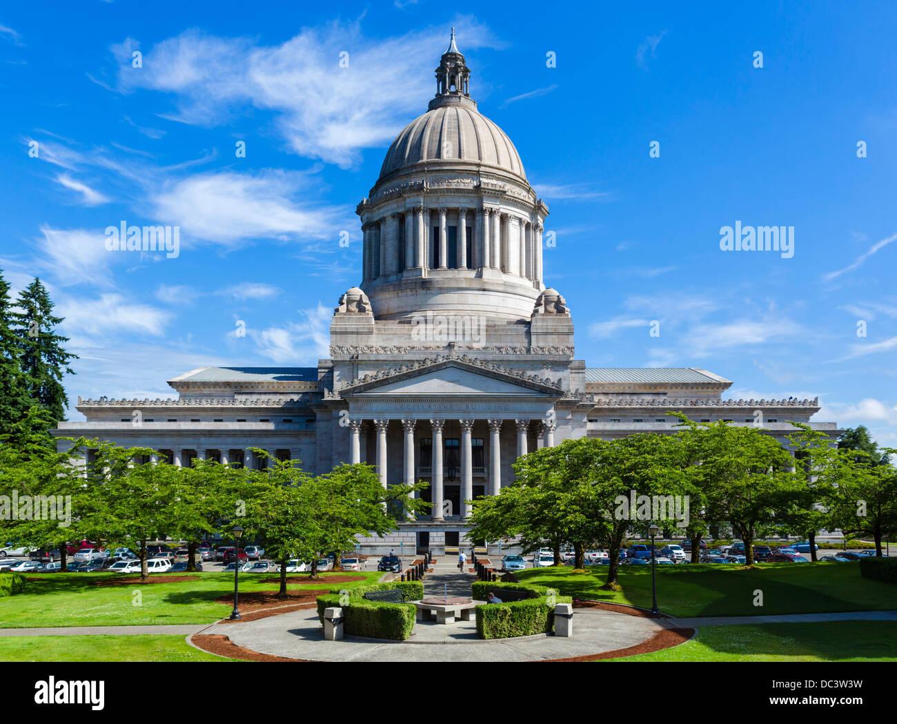 El edificio del Capitolio del Estado de Washington, Olympia, Washington, EE.UU. Imagen De Stock