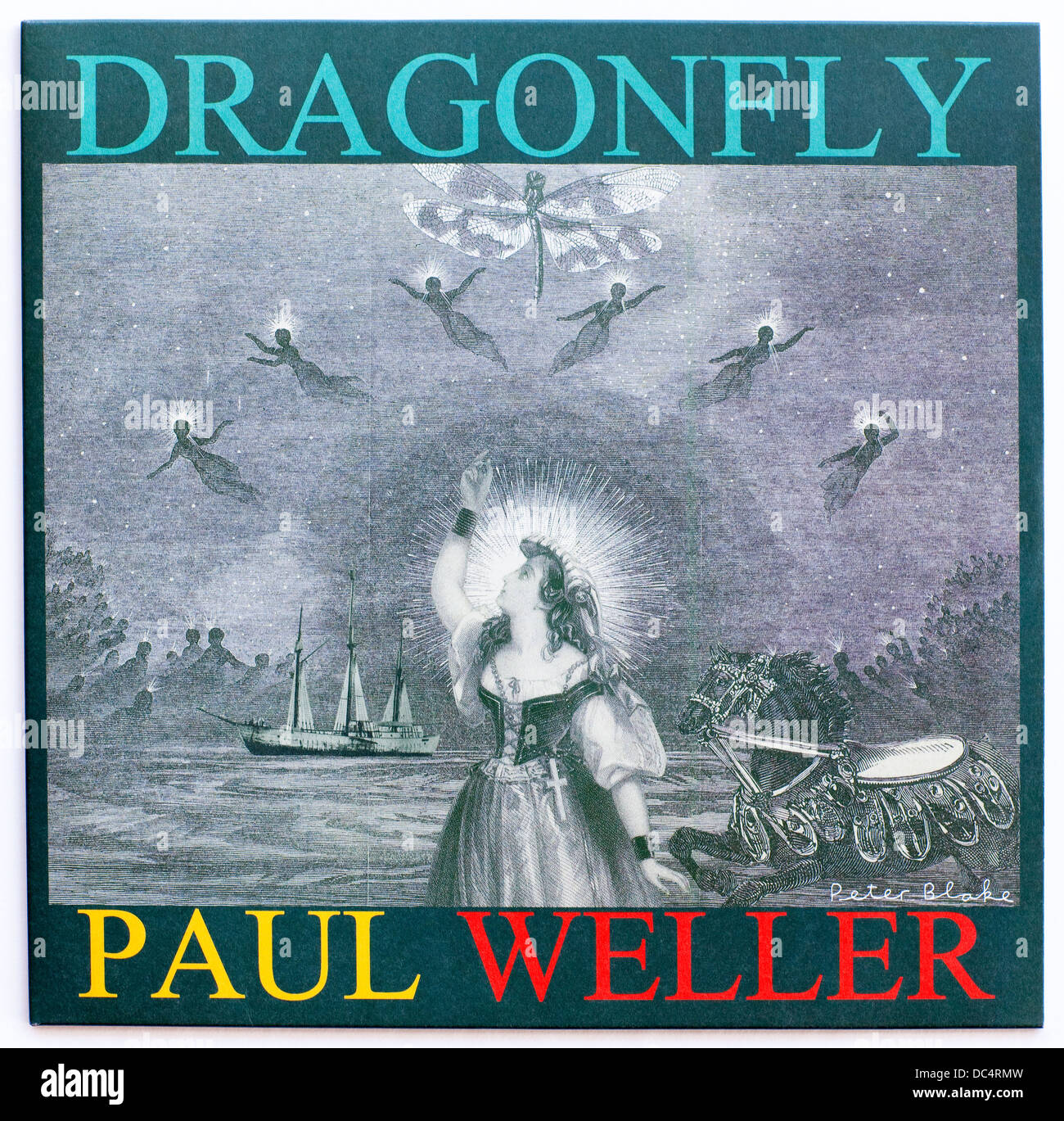 Paul Weller - Dragonfly, 2012 EP en Island Records (portada por Peter Blake) Imagen De Stock