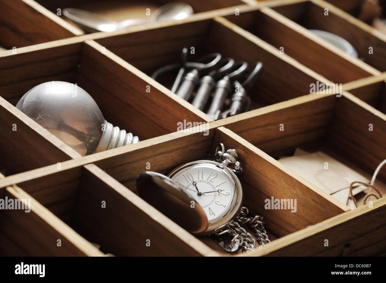 Cerca de objetos antiguos Imagen De Stock