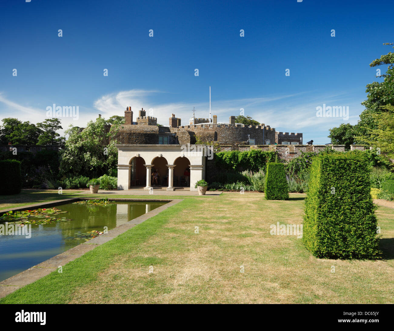 Castillo de Walmer. Foto de stock