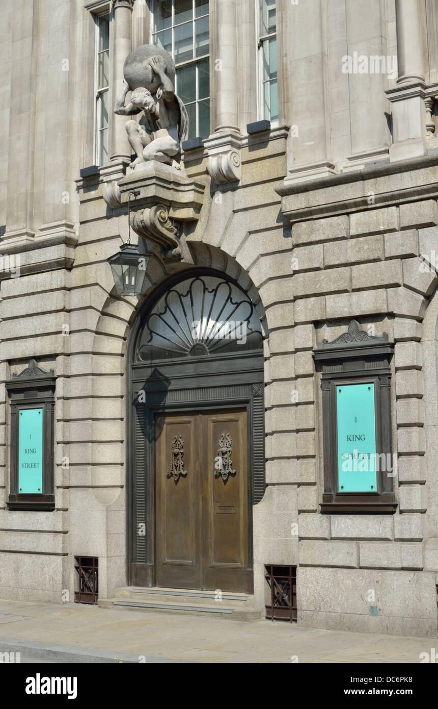 Número 1, un edificio de oficinas de King Street, City of London, Londres, Reino Unido. Imagen De Stock