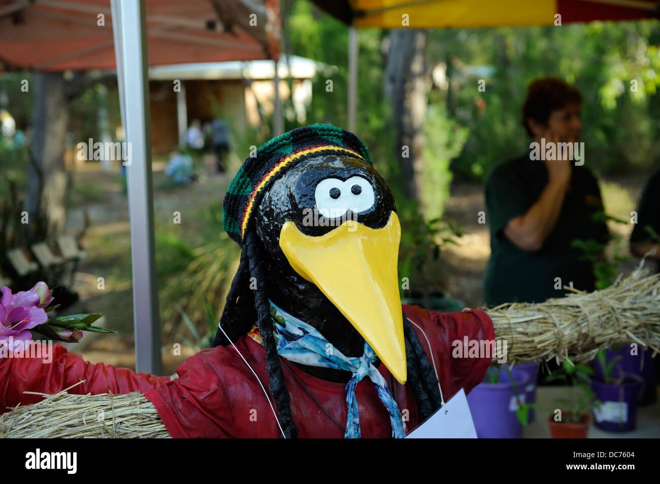 Rastafari Crow espantapájaros Foto de stock