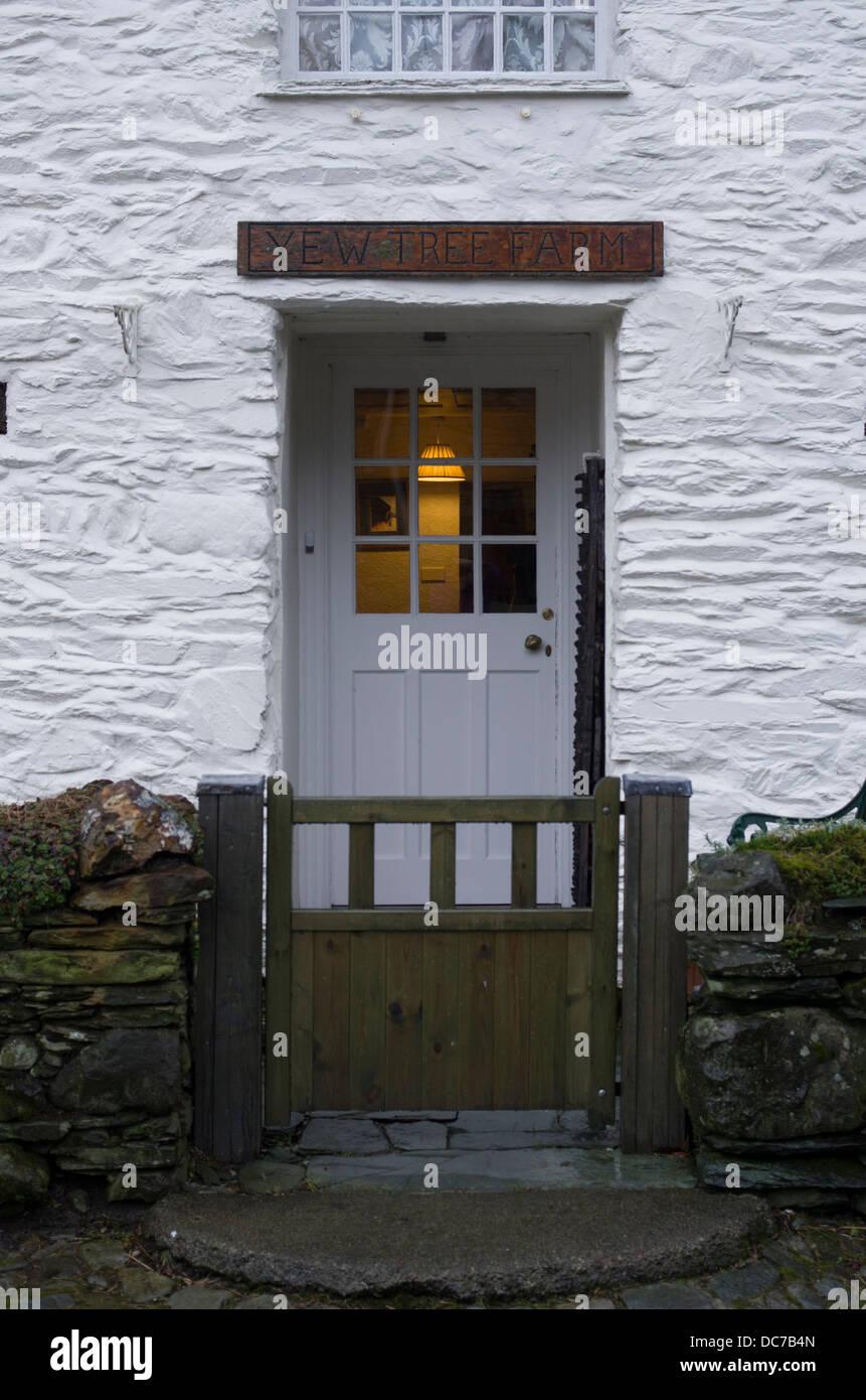 Borrowdale Yew Tree Farm, Lake District, Cumbria, Inglaterra. Un famoso B&B utilizadas por el Príncipe Carlos y su familia. Foto de stock