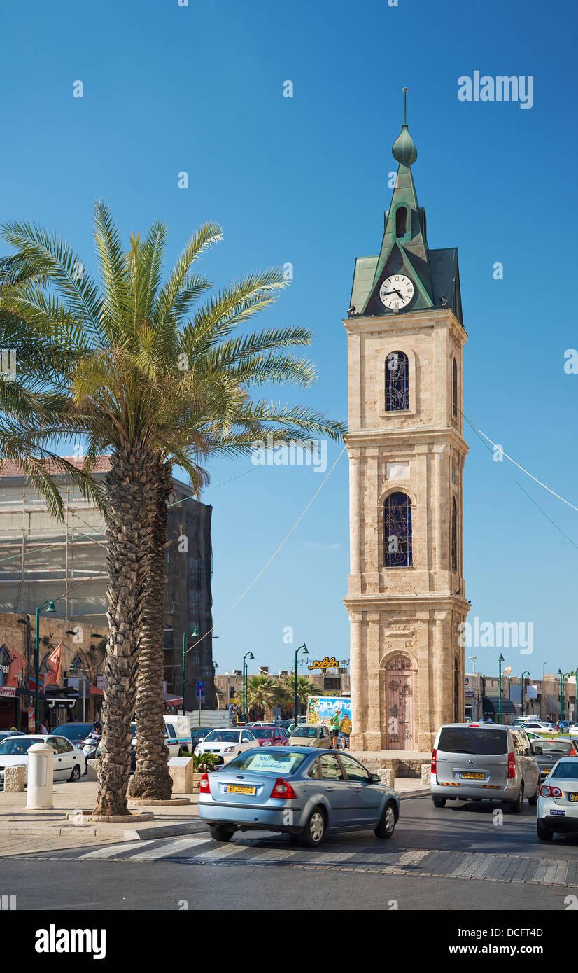 La vieja Jaffa clocktower en tel aviv Israel antiguo Imagen De Stock