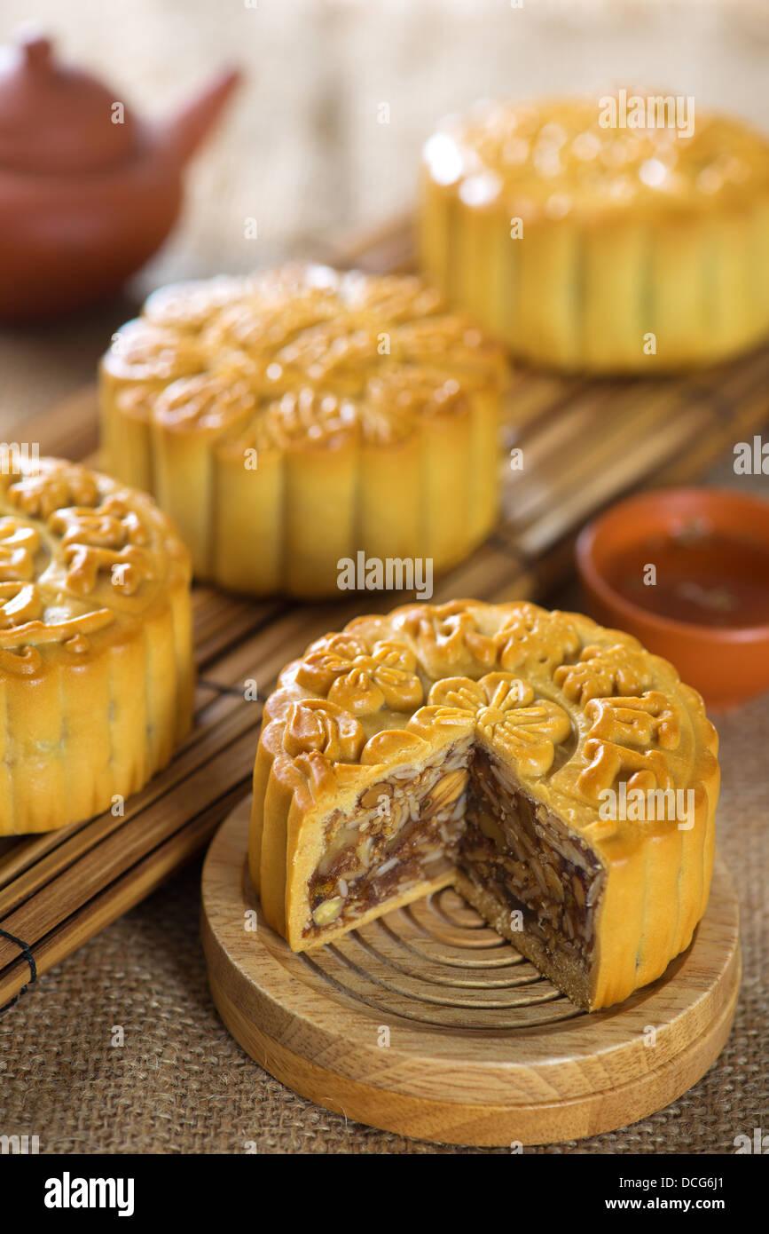 Festival Chino De Mediados De Otono Alimentos Tradicional En La