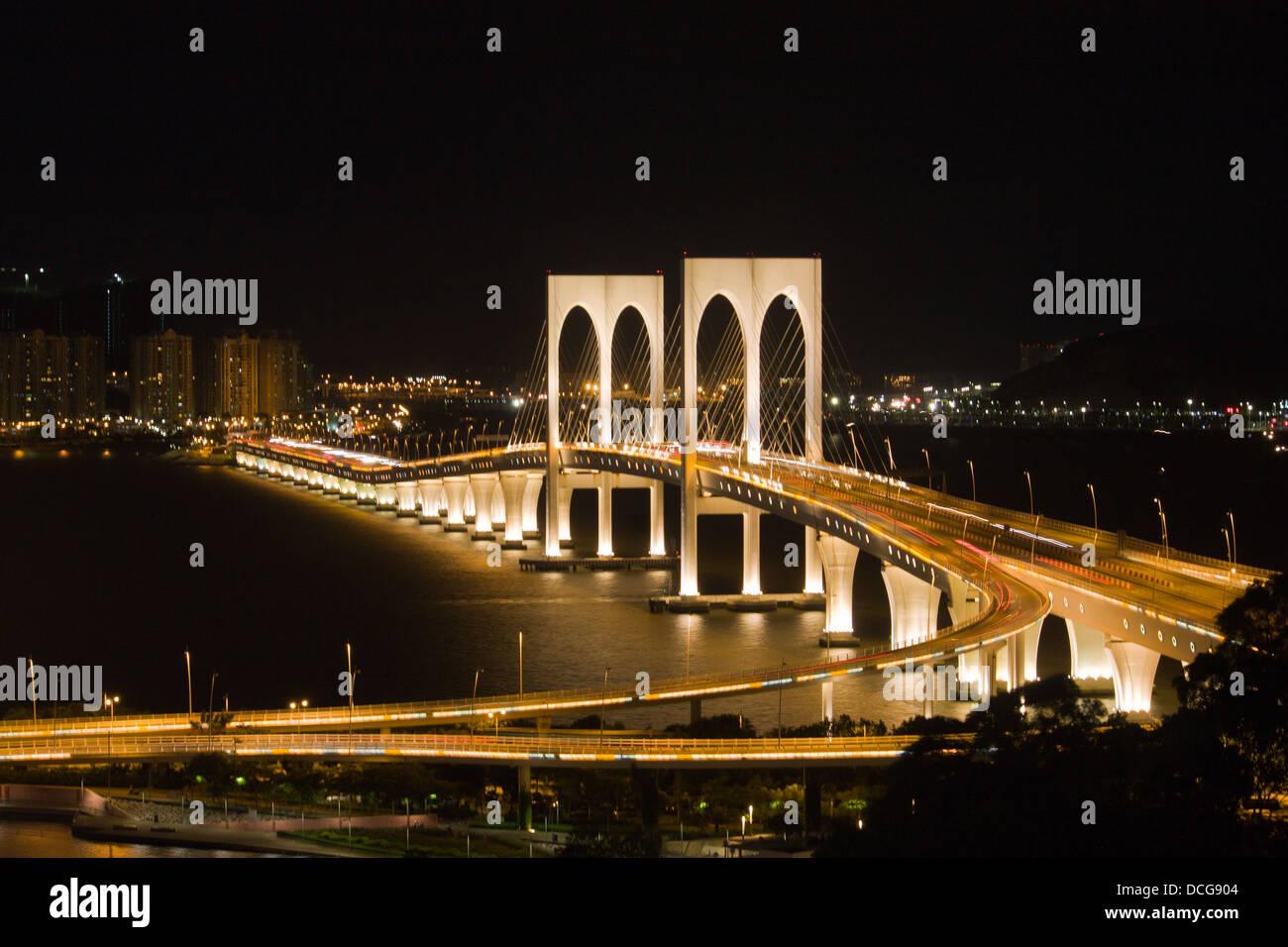 Efs Puente Wan, Macao, Ponte de Sai Van Imagen De Stock