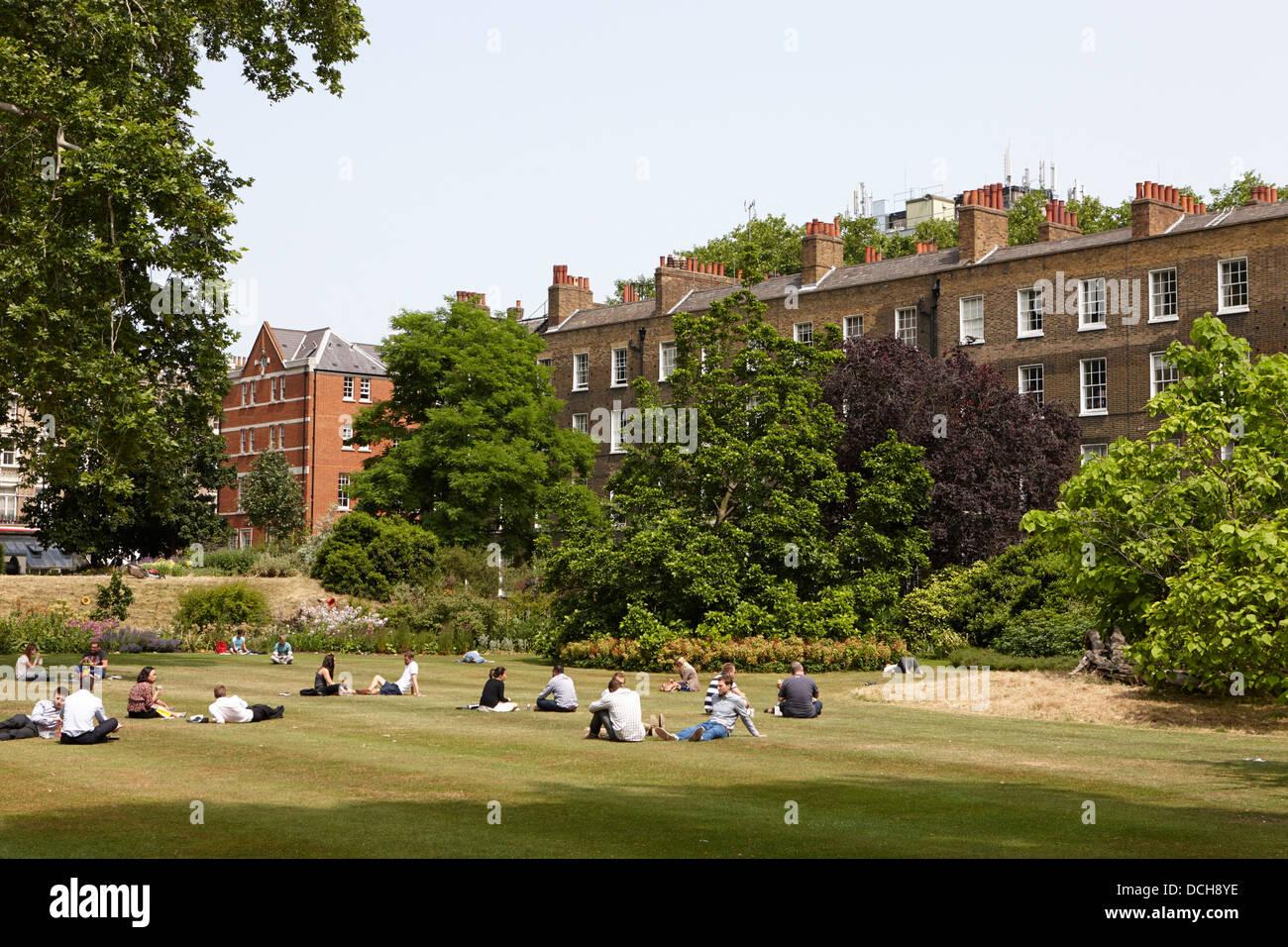 Campos y jardines Grays Inn Londres England Reino Unido Imagen De Stock