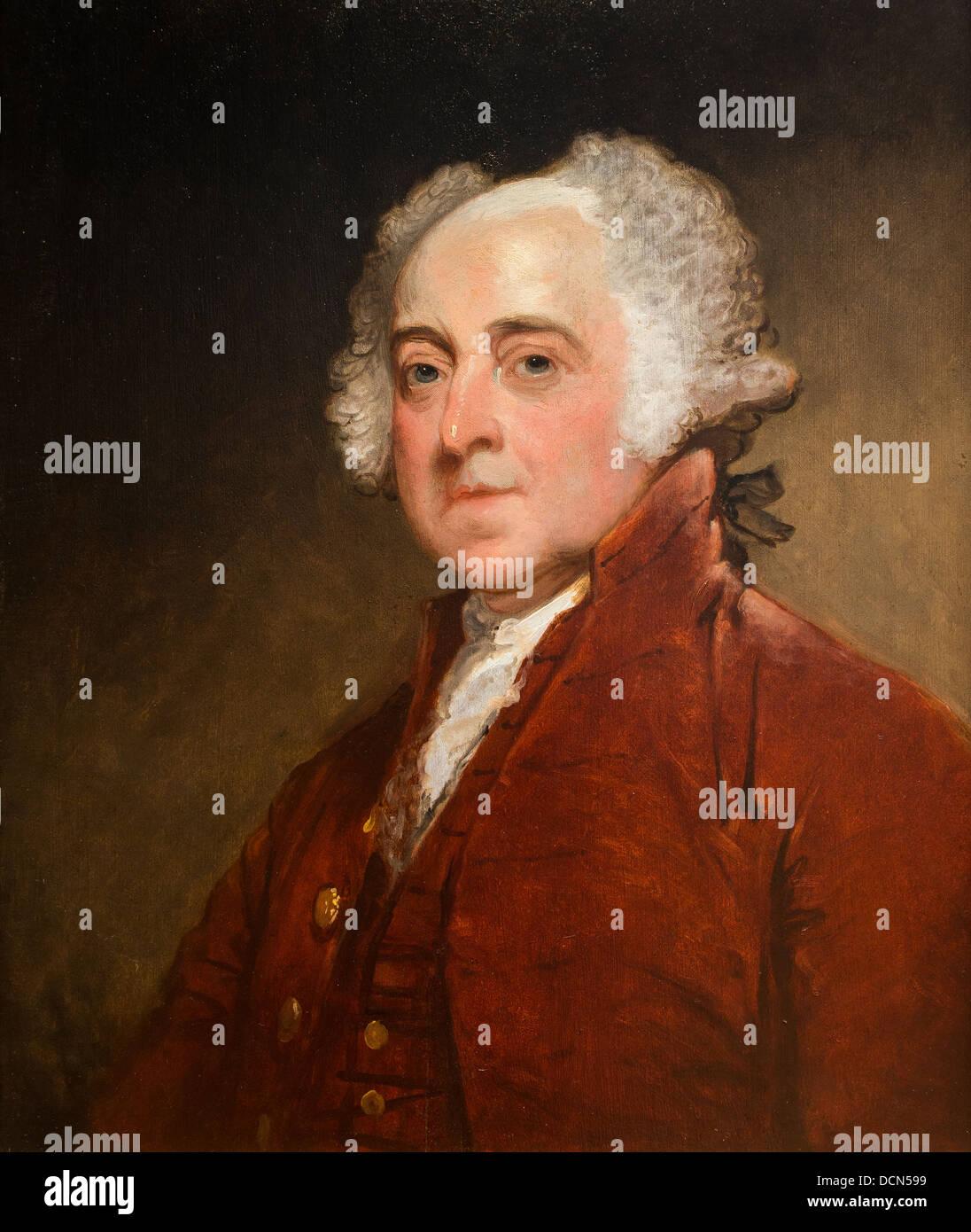 El siglo xix - John Adams - Gilbert Stuart (1821) Philippe Sauvan-Magnet / Museo Activo Imagen De Stock