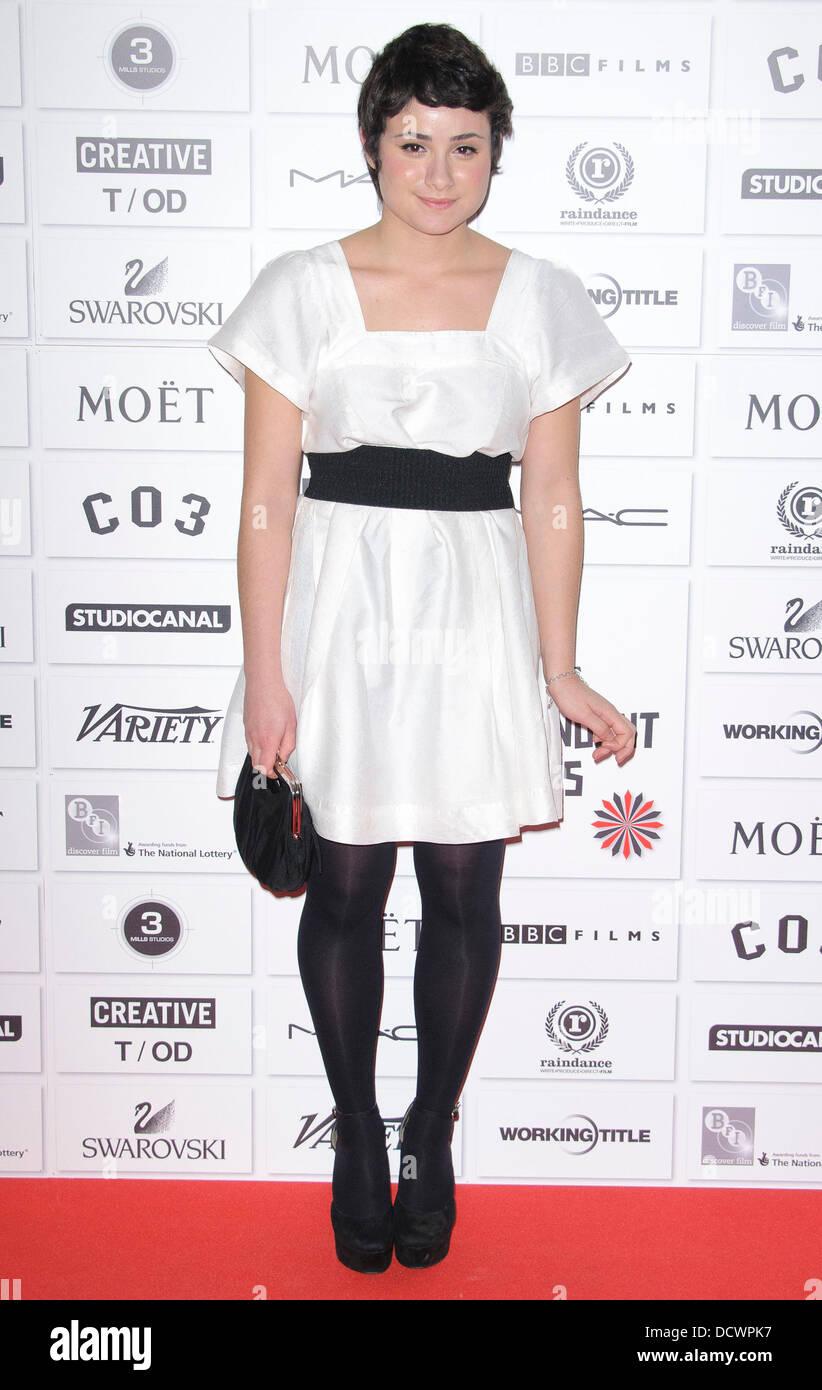 Yasmin Paige Moet British Independent Film Awards 2011 celebrado en el Old Billingsgate Market de Londres, Inglaterra Imagen De Stock