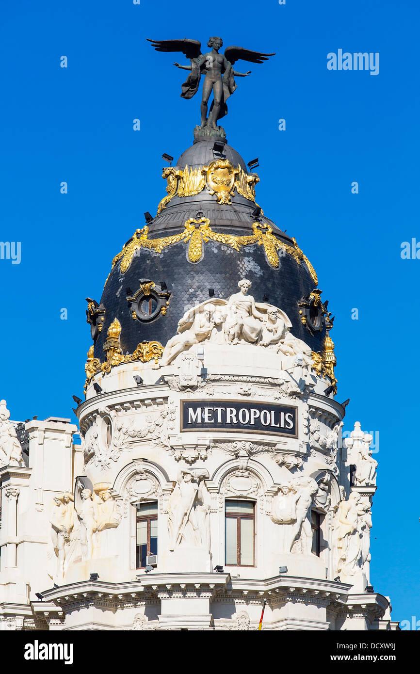 Madrid, edificio Metrópolis Imagen De Stock