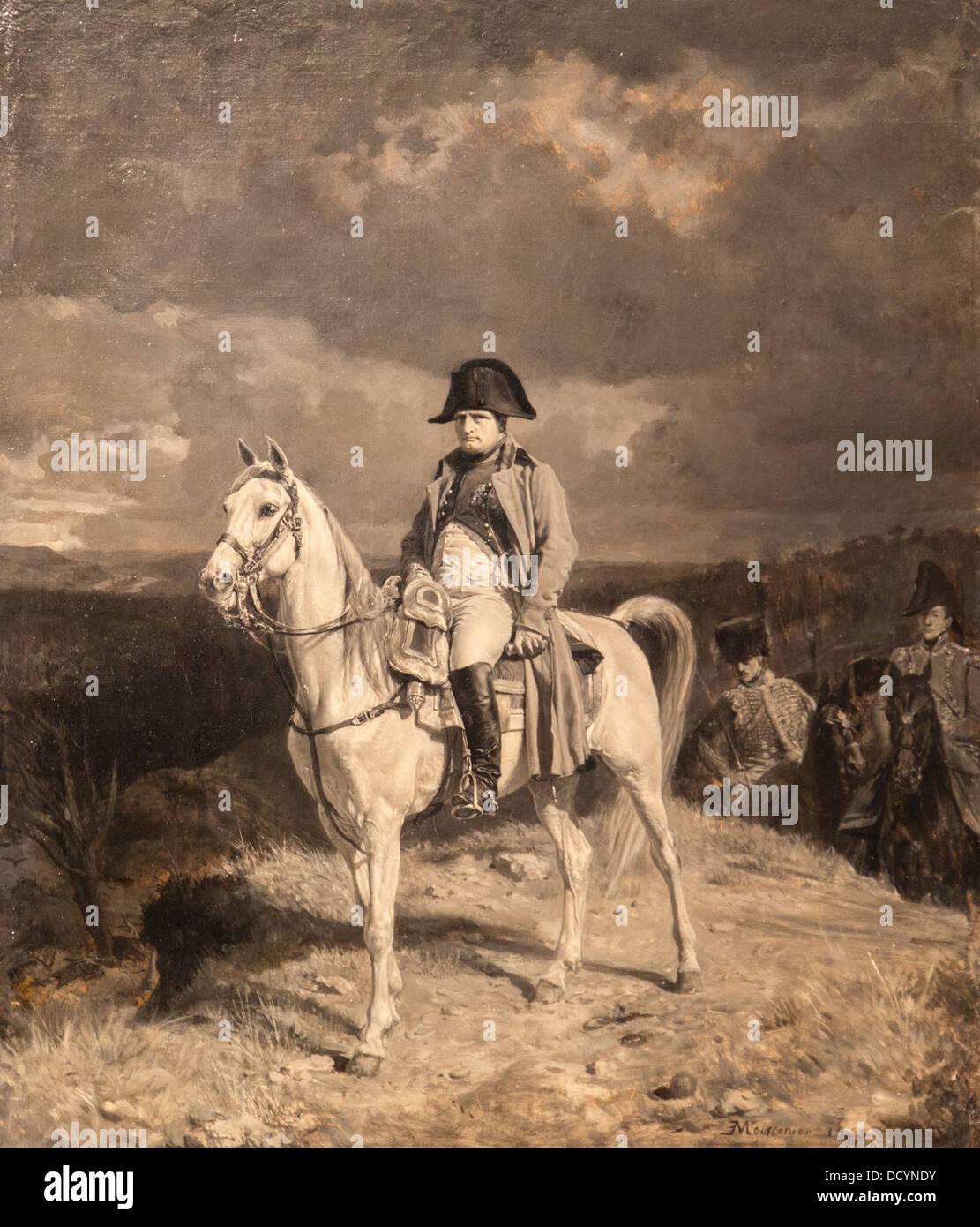 Siglo xix - Napoleón en 1814 - Jean-Louis Ernest Meissonier (1863) - Paris Francia - Óleo sobre lienzo Foto de stock