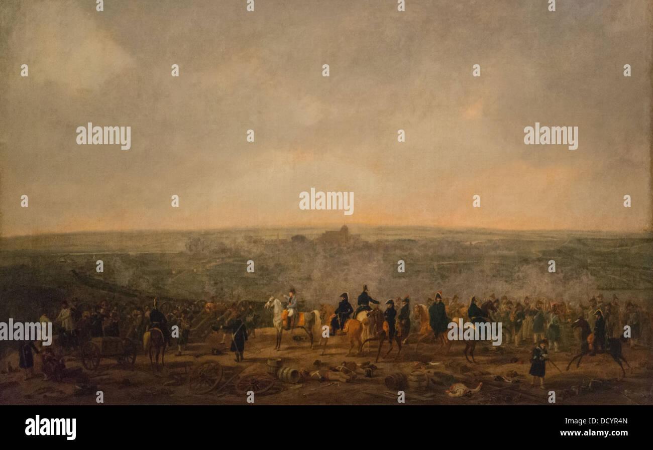 El siglo XIX - el bombardeo de Ulm - Guillermo Alexander Wolfgang Kobell (1807) Philippe Sauvan-Magnet / Museo Activo Foto de stock