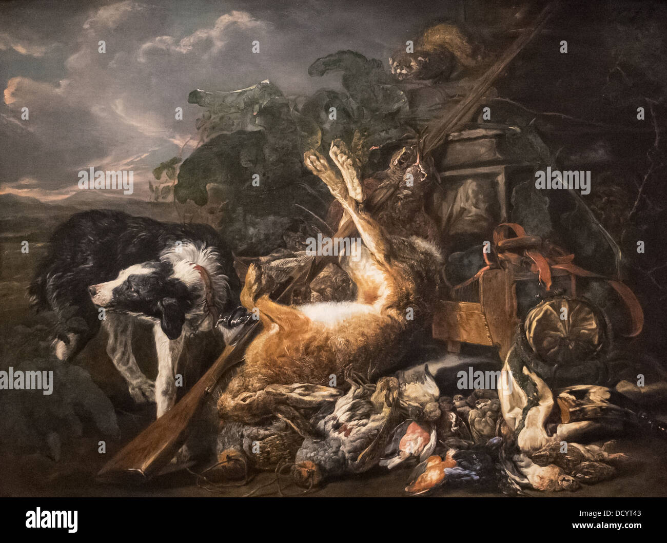 Siglo XVIII - Bodegón de caza - Jean Fyta (1755) - DeYoung Museum - San Francisco Óleo sobre lienzo Imagen De Stock