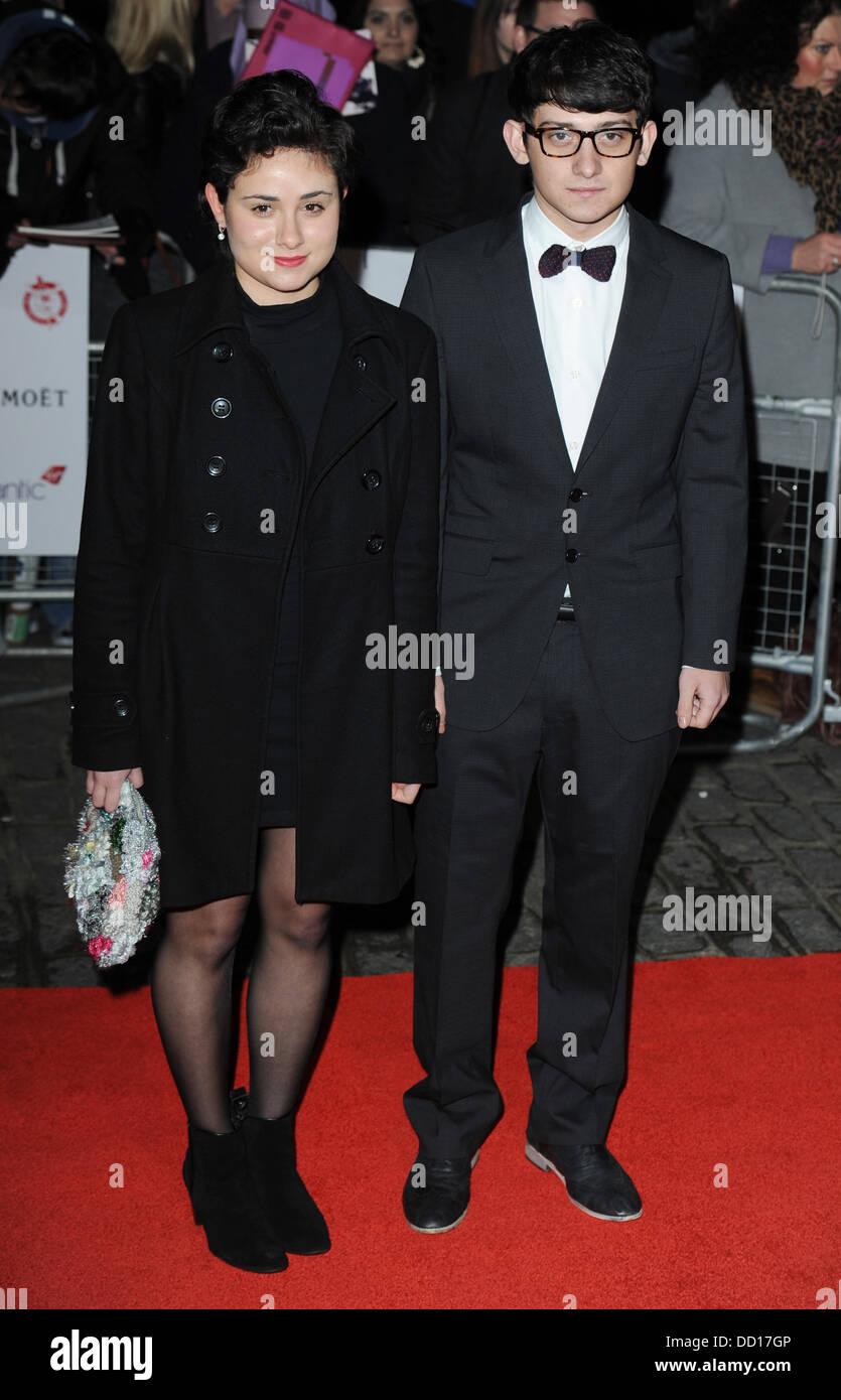 Craig Roberts y Yasmin Paige en la London Film Critics' Circle Awards en el BFI Southbank, Londres, Inglaterra Imagen De Stock