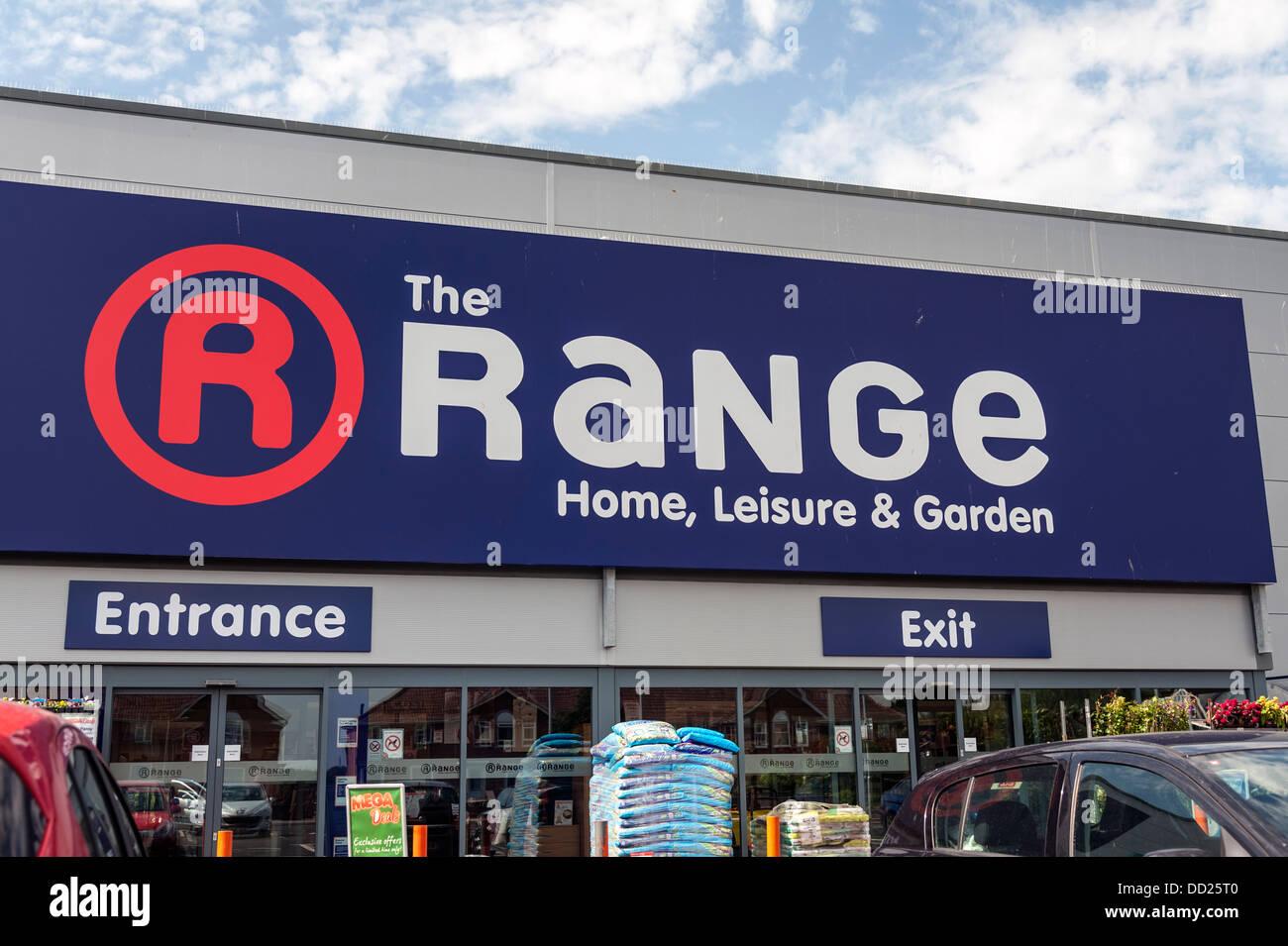 La gama store en Bridgwater, Reino Unido. Imagen De Stock
