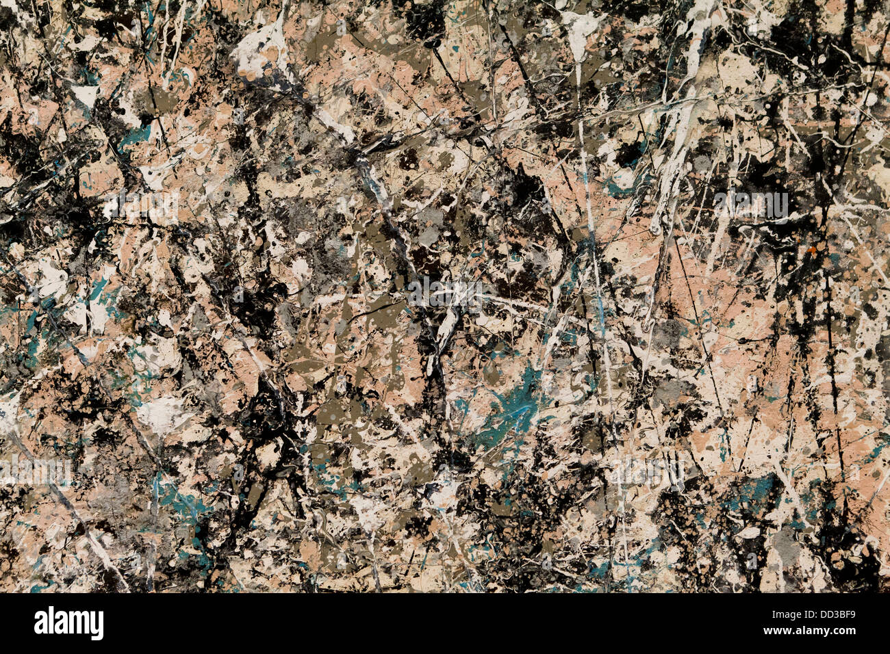 'Número 1 (Lavanda) neblina' de Jackson Pollock, 1950 Imagen De Stock