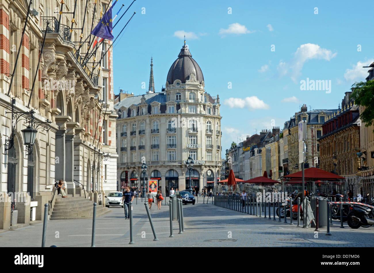Place du Theatre, Old Town, Lille, Francia Imagen De Stock