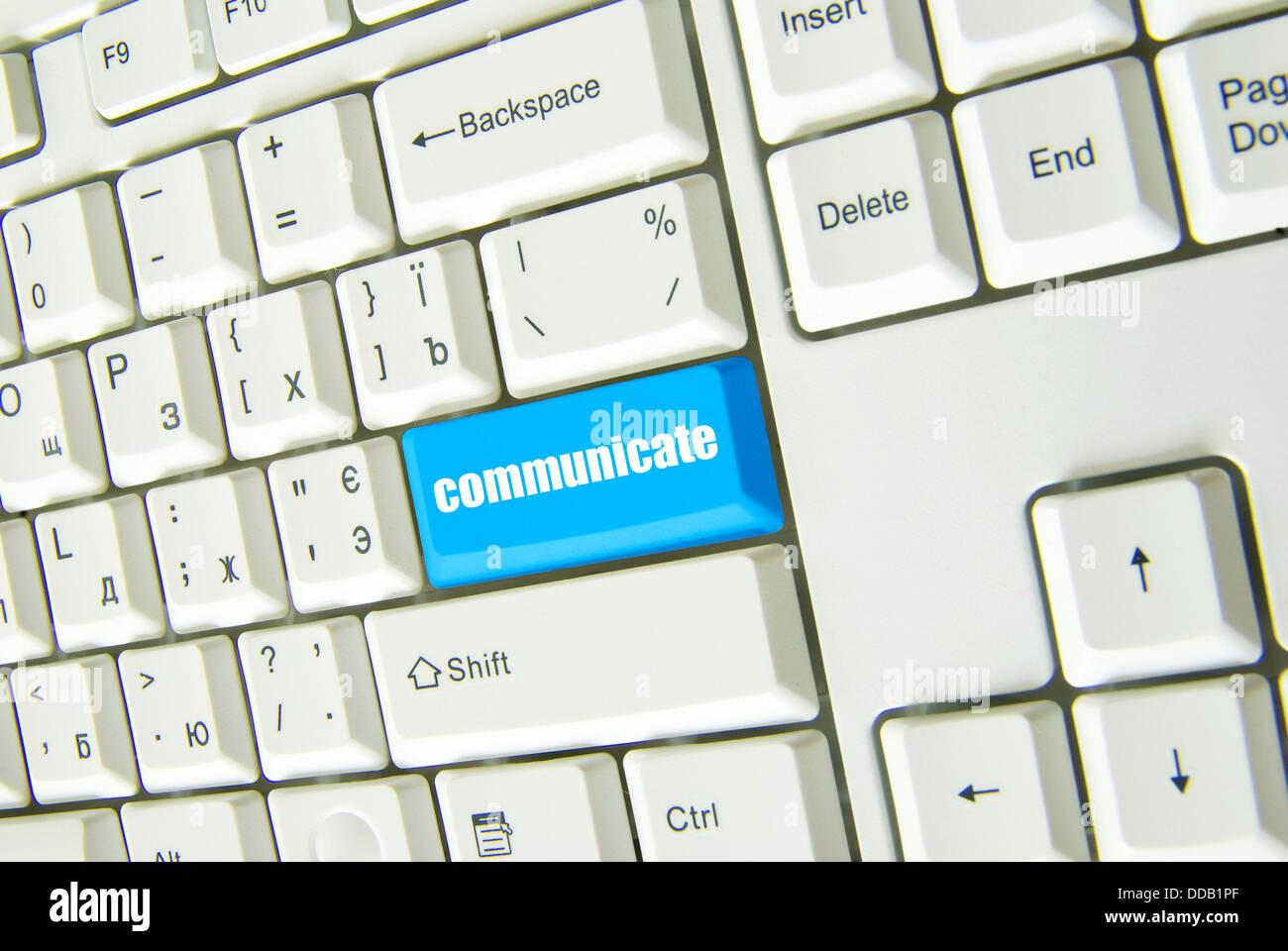 Botón de comunicarse Imagen De Stock