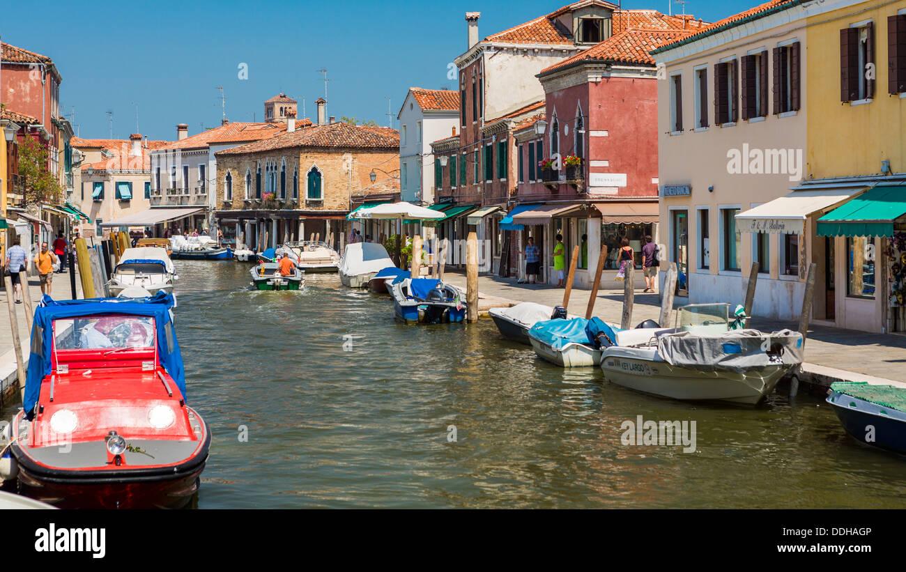 Water Street en Murano,Venecia,Italia Imagen De Stock