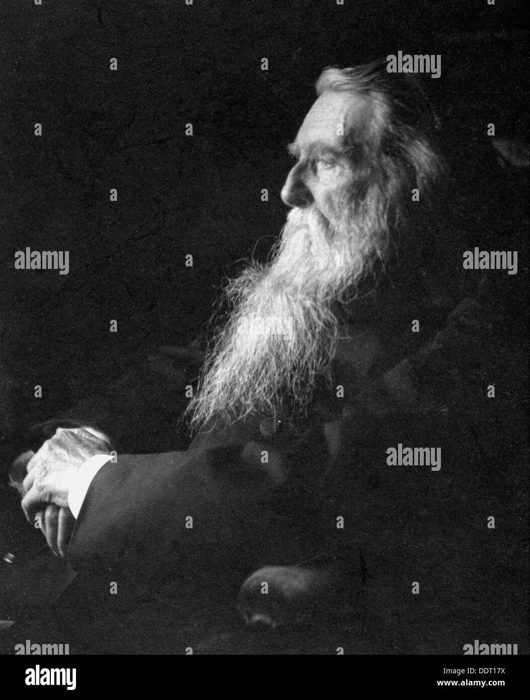 John Ruskin, el artista inglés, poeta y crítico, c 1897. Artista: Emil Otto Hoppe Imagen De Stock